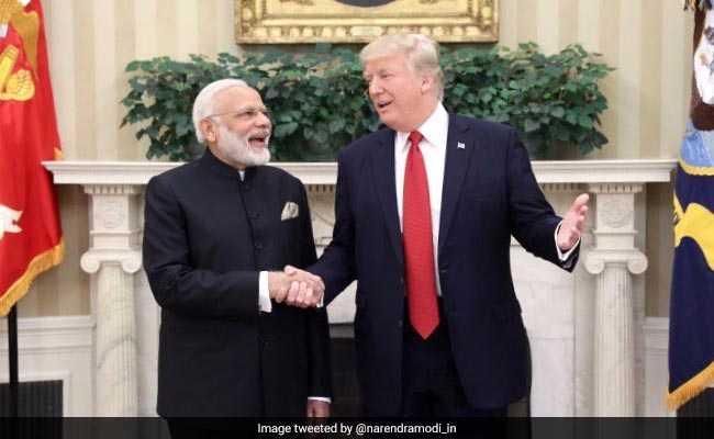 Donald Trump with Modi